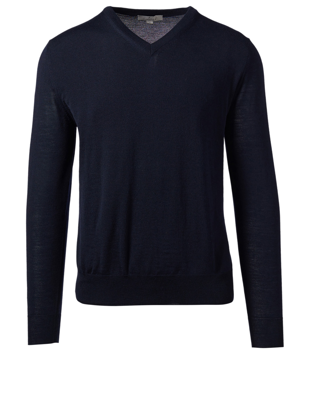 CANALI Wool V-Neck Sweater Men's Blue