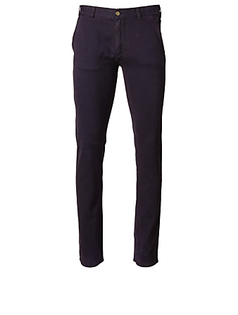 CANALI Stretch Cotton Pants Men's Blue