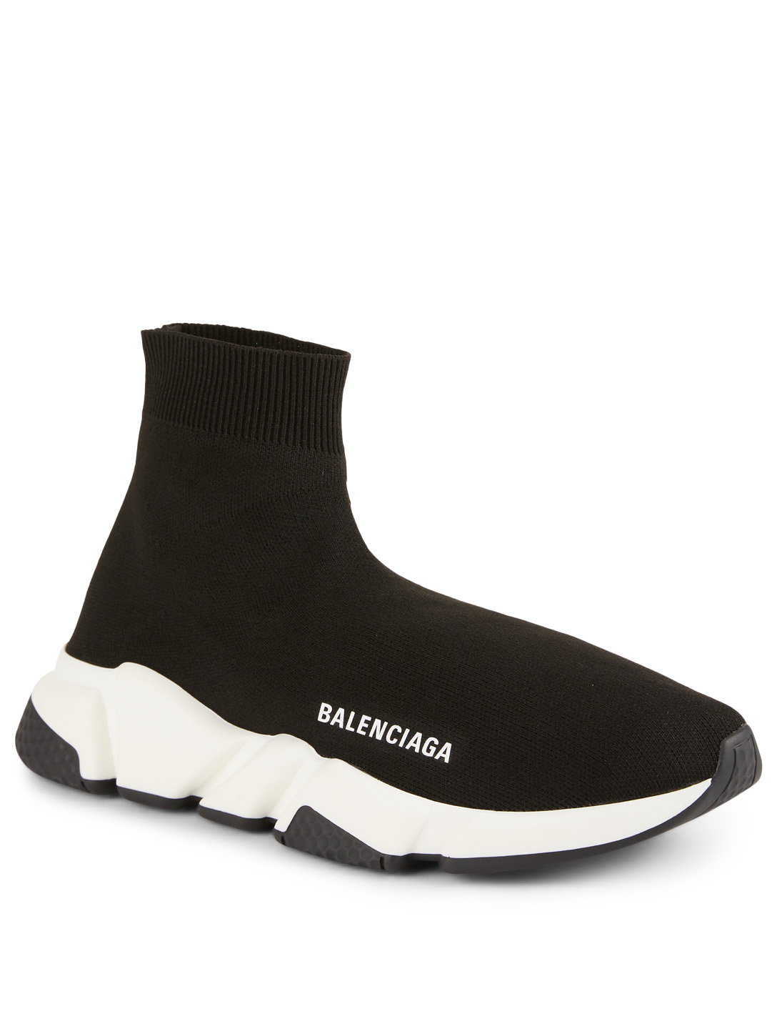 BALENCIAGA Speed High-Top Sock Sneakers Womens Black
