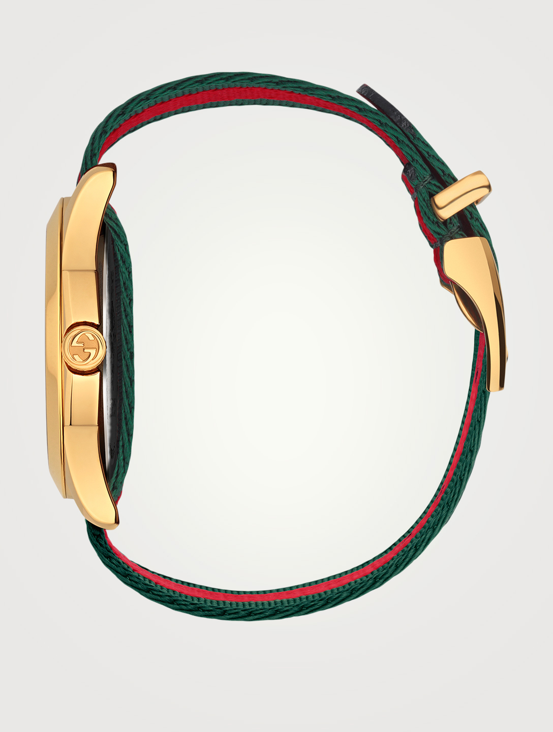 GUCCI Le Marché Des Merveilles Bee Nylon Strap Watch Men's Gold