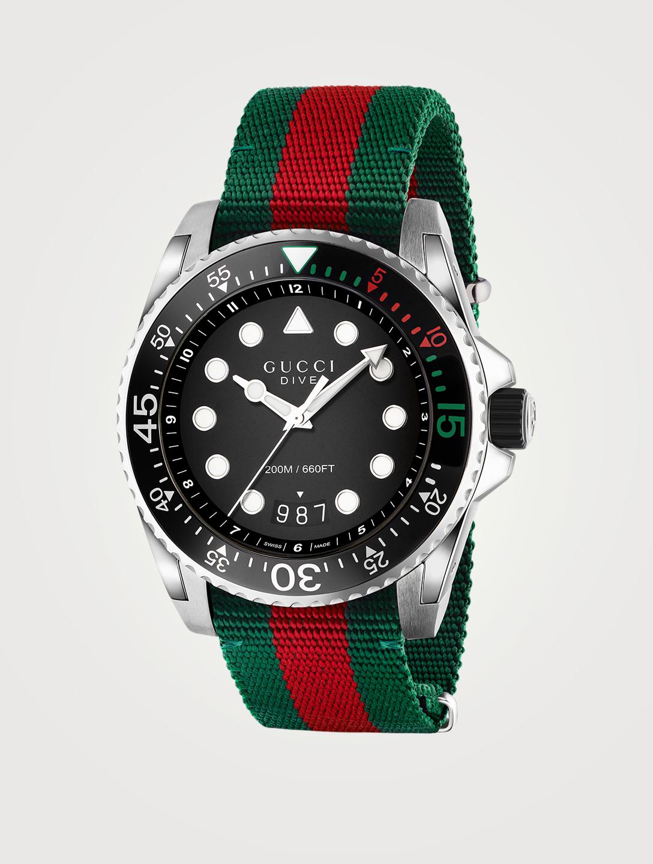 93f6b4043e7 GUCCI Gucci Dive Web Steel Strap Watch
