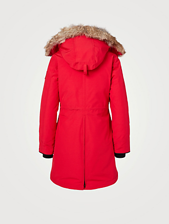 CANADA GOOSE Rossclair Down Parka With Fur Hood - Fusion Fit Women's Red