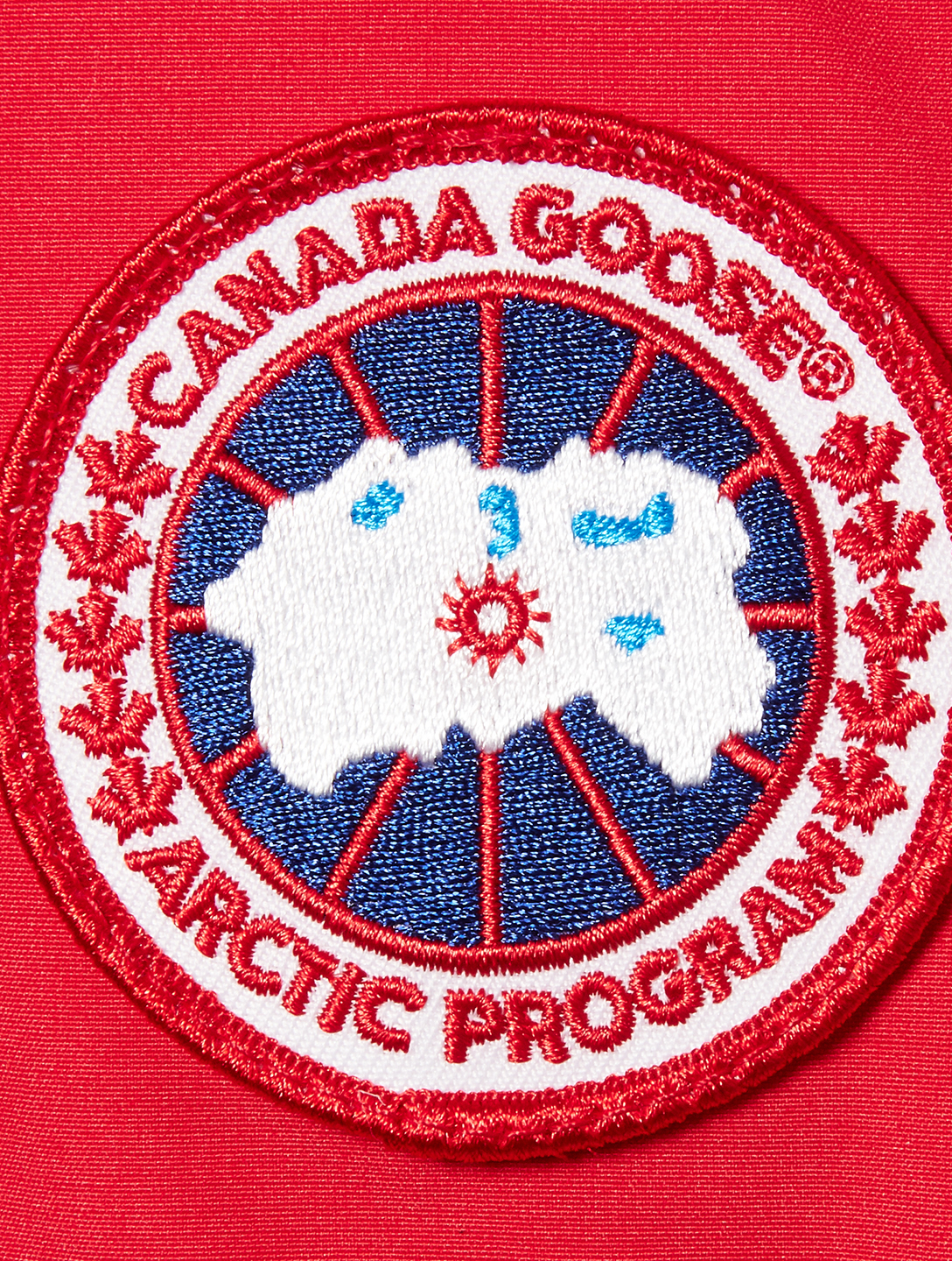 CANADA GOOSE Shelburne Down Parka With Fur Womens Red