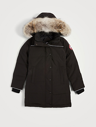 CANADA GOOSE Youth Juniper Down Parka With Fur Kids Black