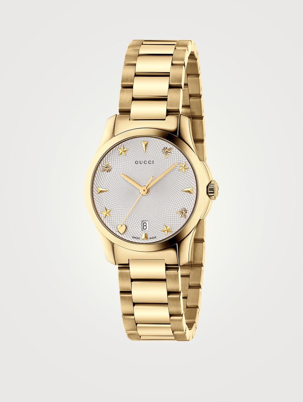 22284c86100 GUCCI G-Timeless Goldtone Steel Bracelet Watch