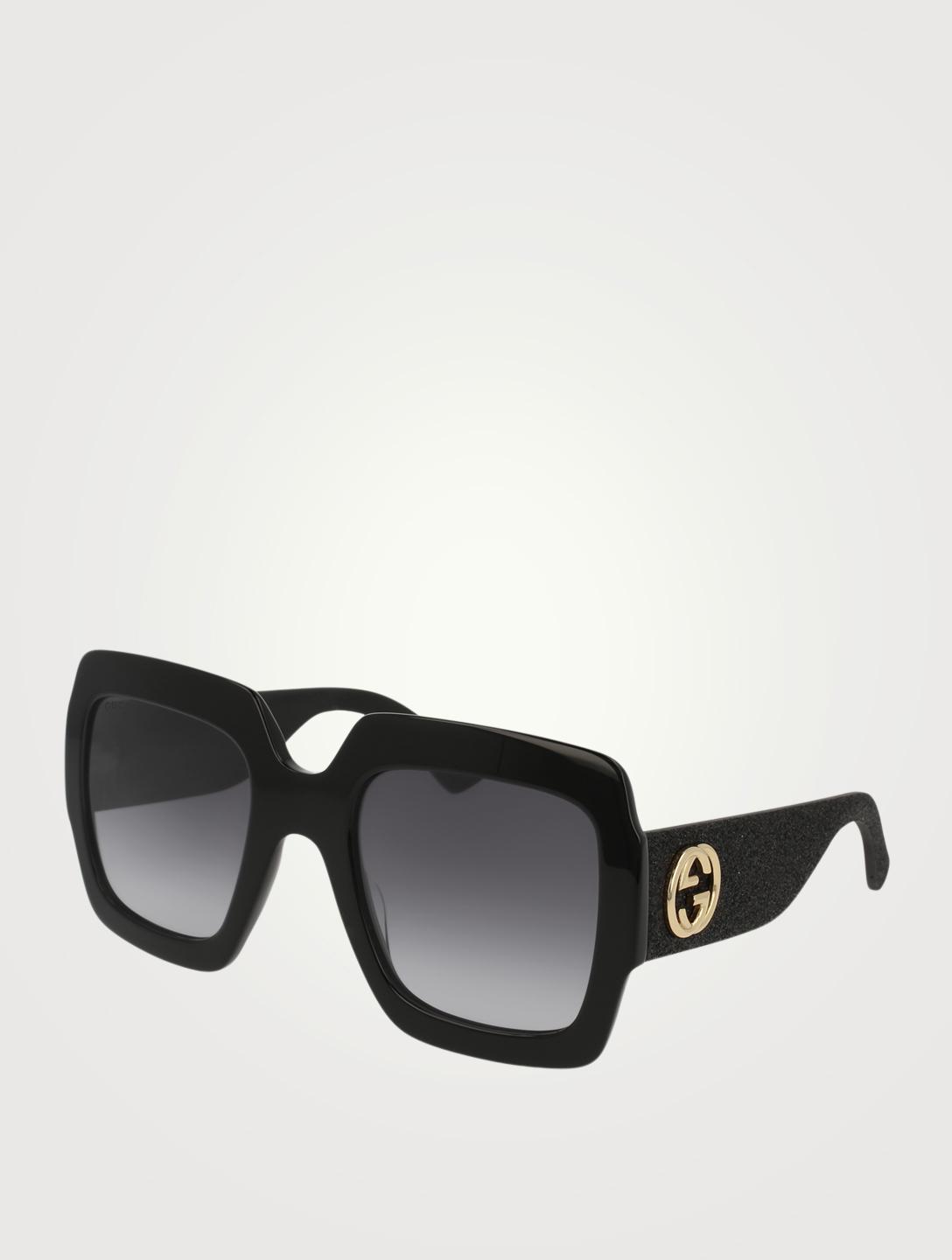 ba7d9c4dd4a GUCCI Oversized Square Sunglasses Women s Black ...