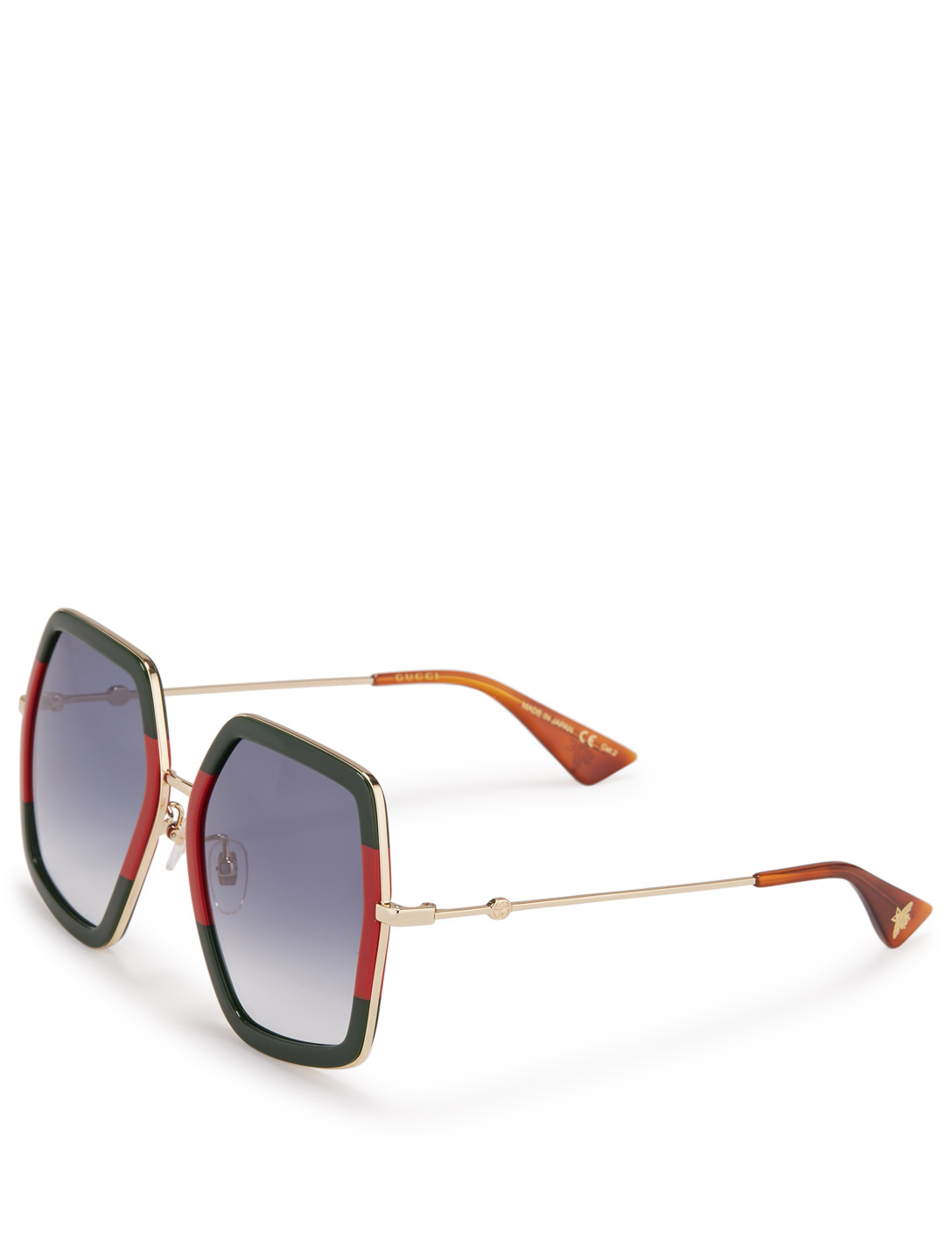 GUCCI Oversized Square Sunglasses Womens Red
