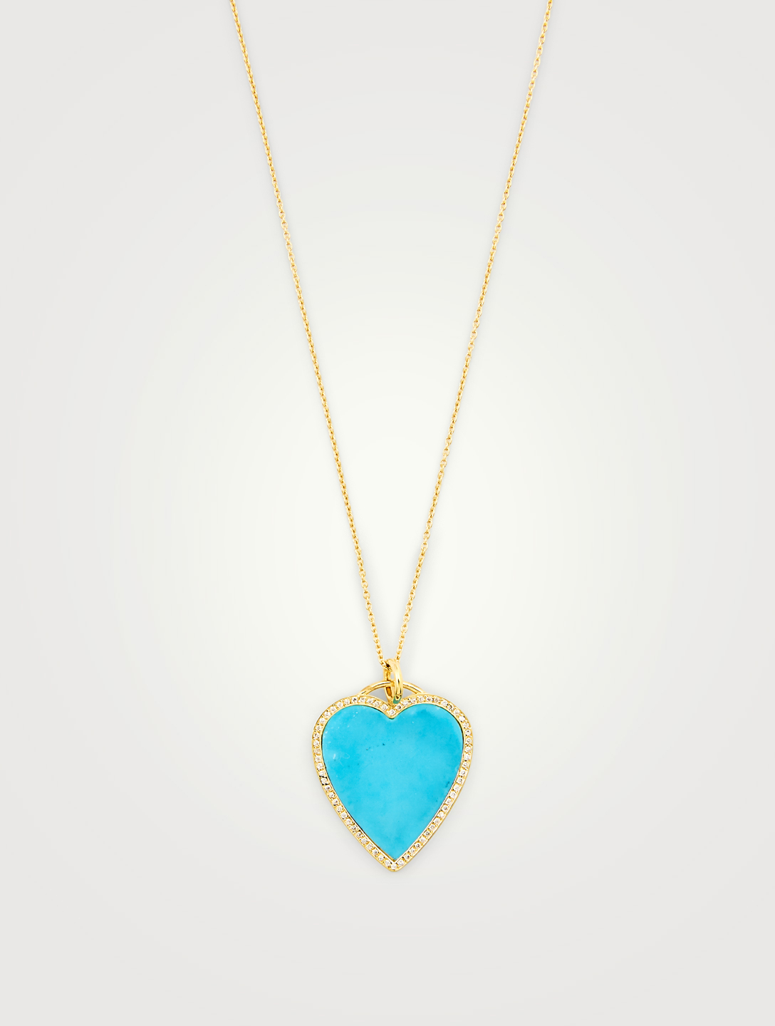 JENNIFER MEYER Gold Inlay Heart Necklace With Diamonds Women's Gold