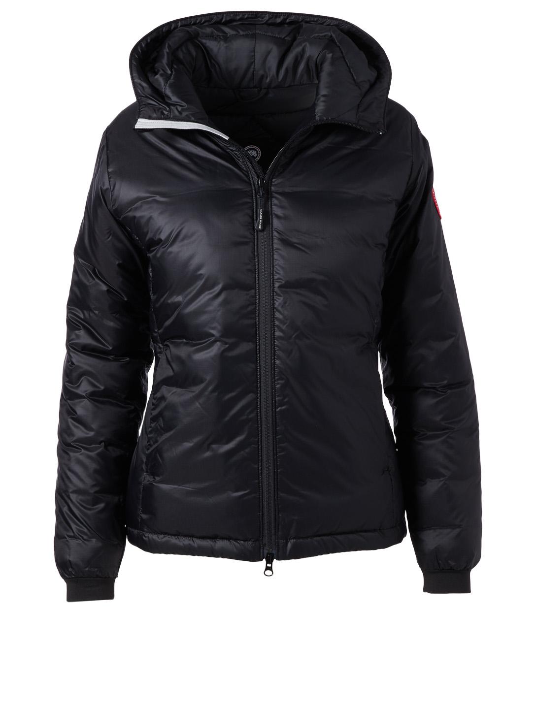CANADA GOOSE Camp Hoody Down Puffer Jacket Womens Black ... 90ea7a4b98