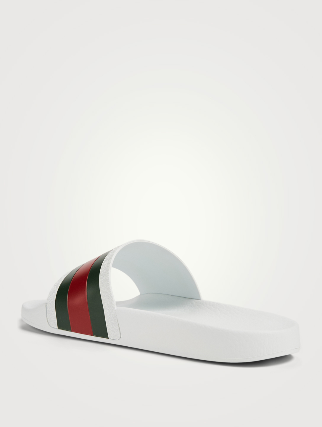 GUCCI Pursuit '72 Rubber Pool Slides Men's White