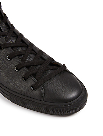 GUCCI Major Leather High-Top Sneakers With Wolf Patch Men's Black