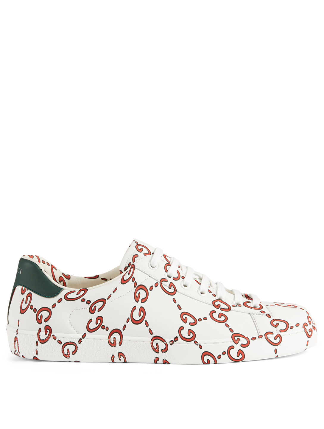 GUCCI Ace Leather Sneakers In GG Print Designers White