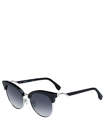 FENDI Round Sunglasses Women's Black