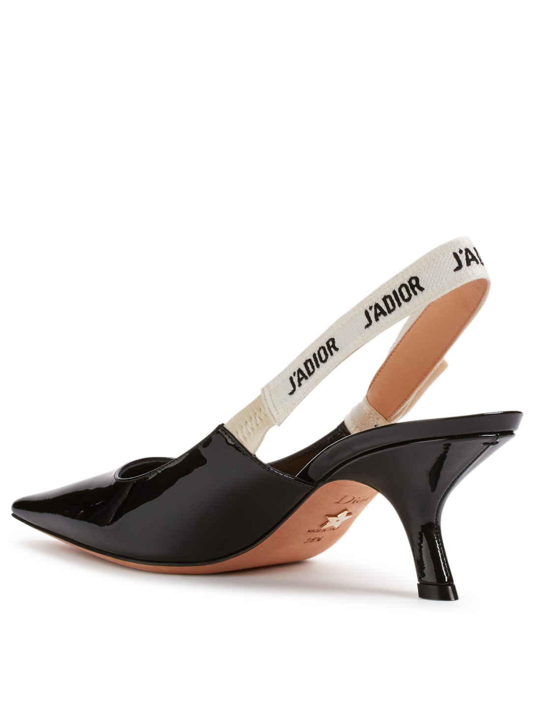 DIOR J'Adior Patent Leather Slingback Pumps Women's Black