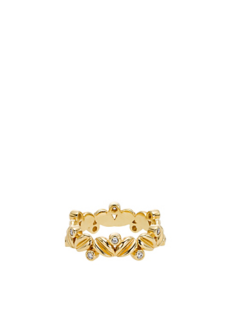 TEMPLE ST. CLAIR 18K Gold Oliva Ring With Diamonds Women's Gold