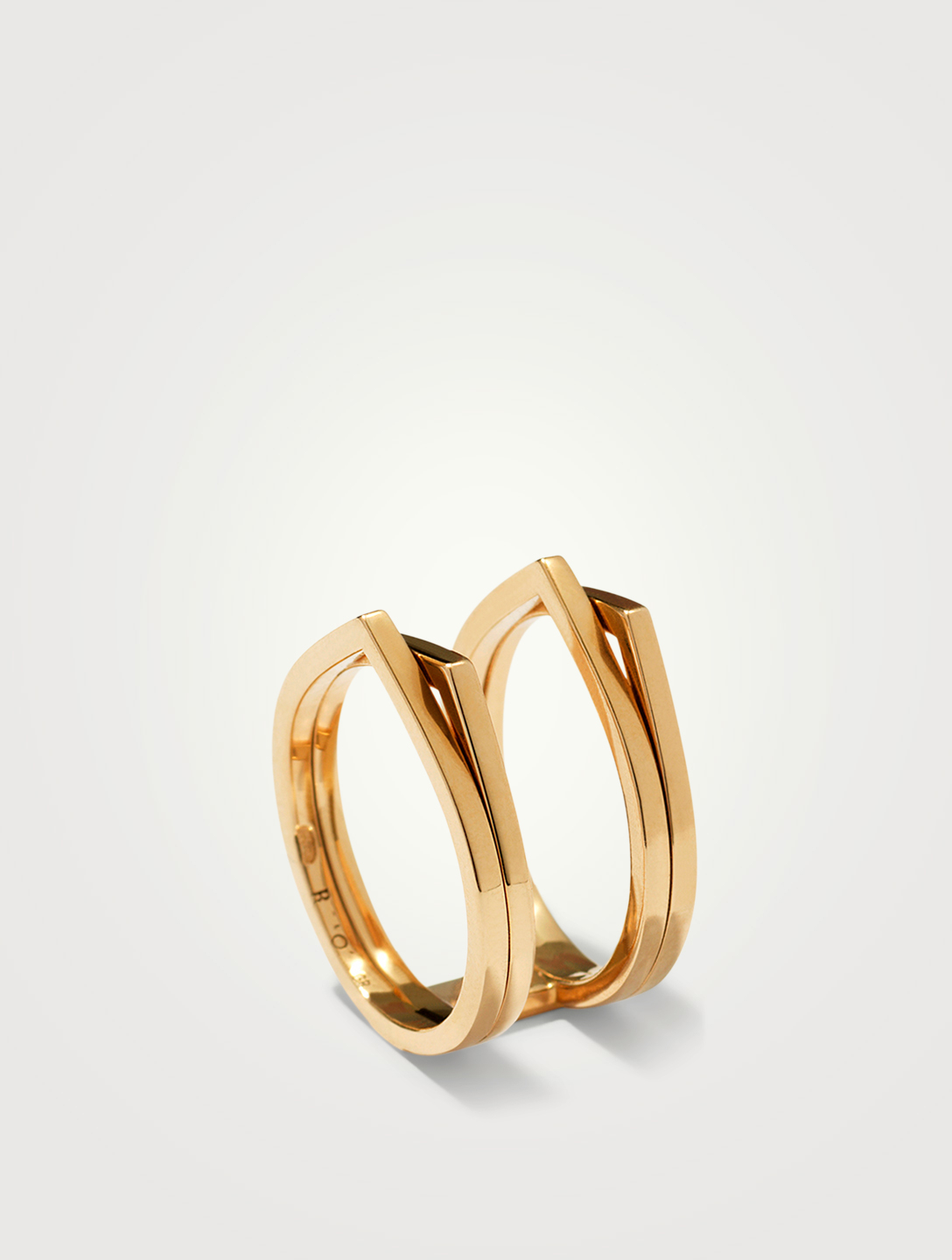 REPOSSI Antifer 18K Rose Gold Four Band Parallel Ring Women's Metallic