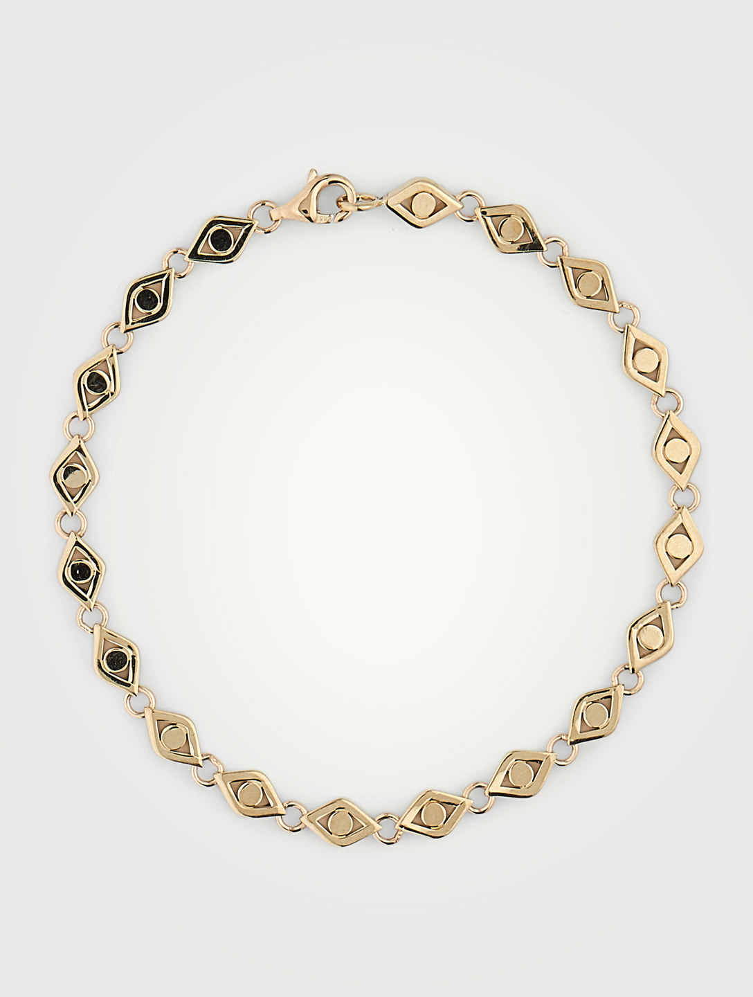 SYDNEY EVAN 14K Gold Evil Eye Link Bracelet Women's Metallic