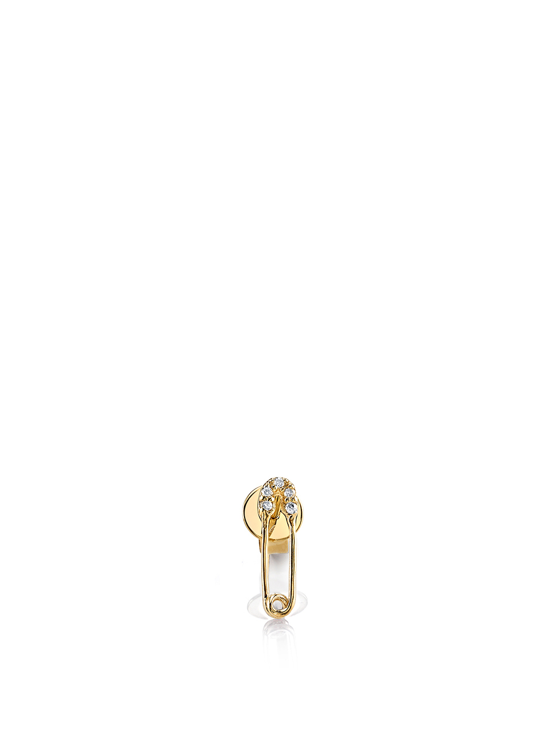 SYDNEY EVAN 14K Gold Safety Pin Stud Earring Womens Gold