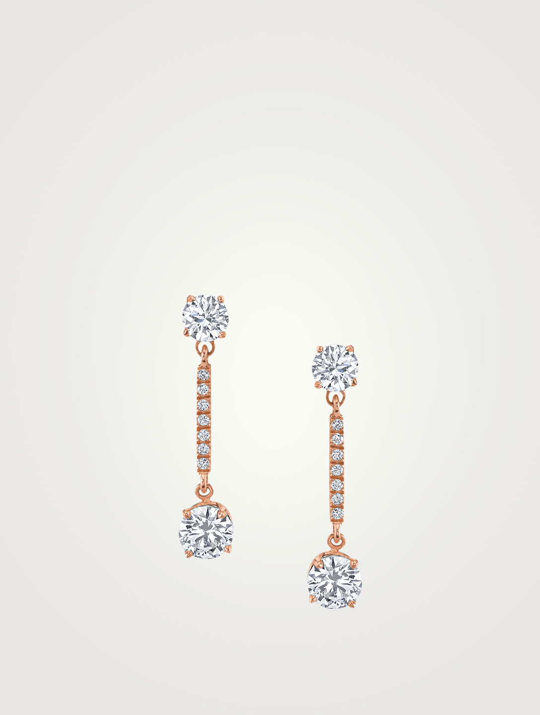 ANITA KO Emma 18K Rose Gold Drop Earrings With Diamonds Womens Metallic