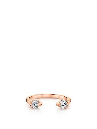 ANITA KO Orbit 18K Rose Gold Ring With Diamonds Women's Metallic