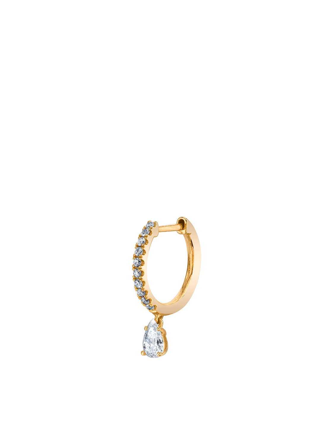 ANITA KO Small 18K Gold Hoop Earring With Diamonds Womens Gold