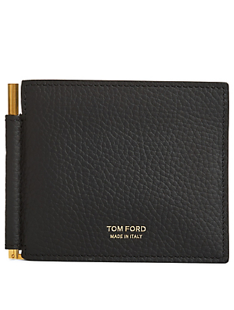9d474238ba1 TOM FORD Leather T-Line Bifold Money Clip Wallet Men s Black ...