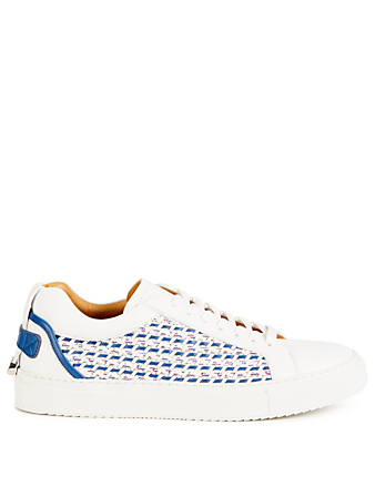 BUSCEMI Lyndon Weave Leather Sneakers Men's White