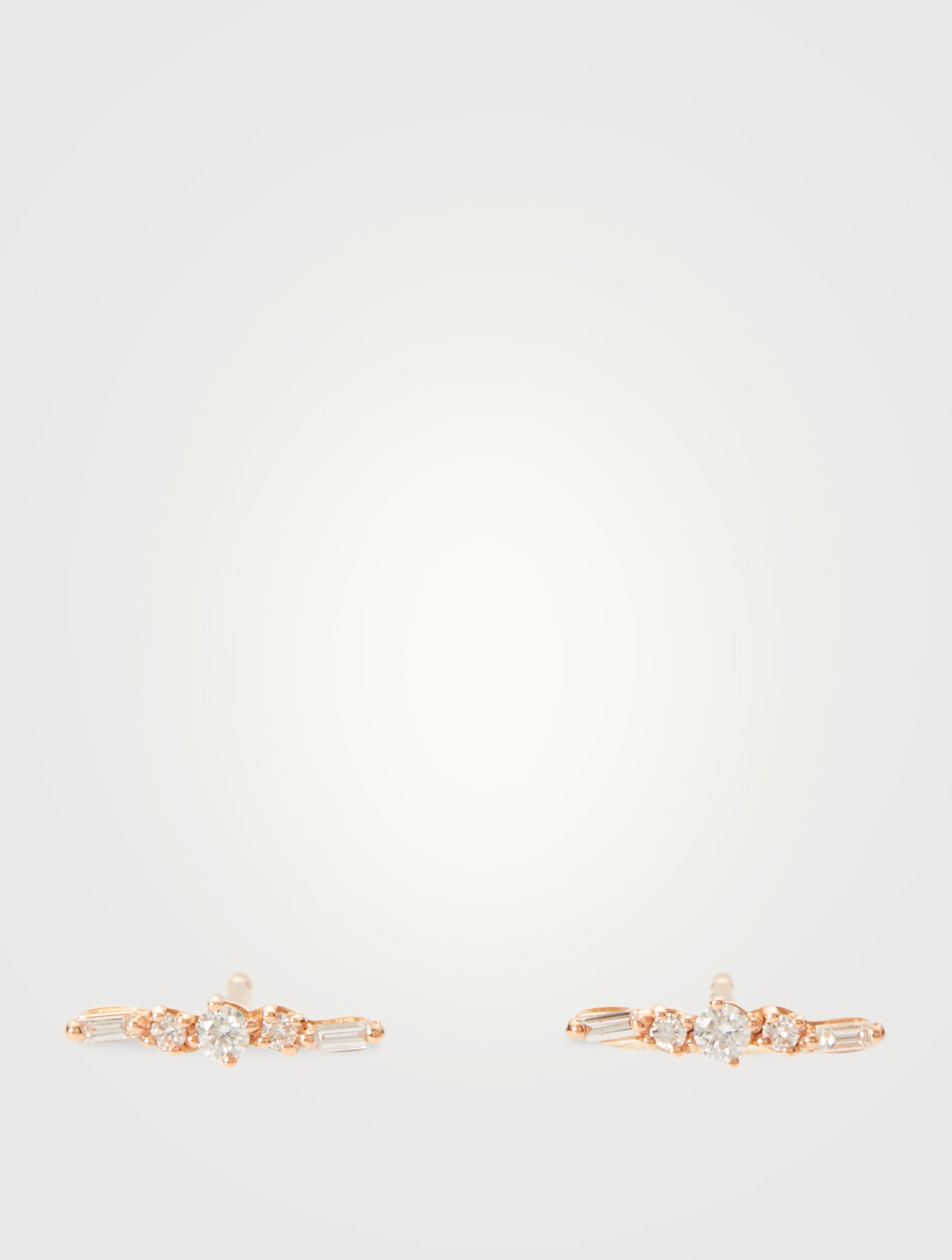 SUZANNE KALAN Fireworks 18K Rose Gold Earrings With Diamonds Women's Metallic