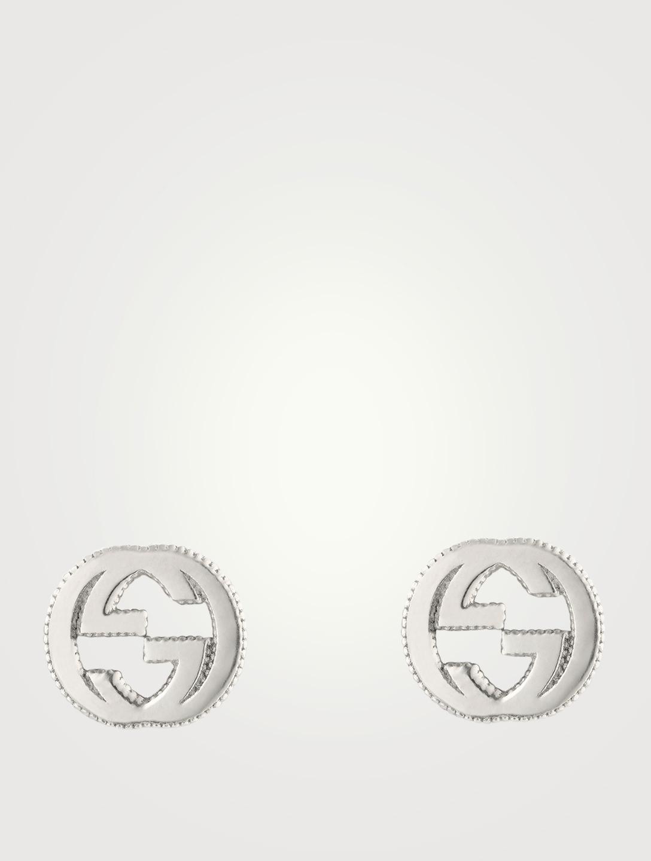 39ae326f4c9 GUCCI Interlocking G Sterling Silver Stud Earrings