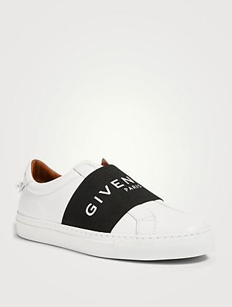 GIVENCHY Urban Street Leather Sneakers With Logo Strap Women's White