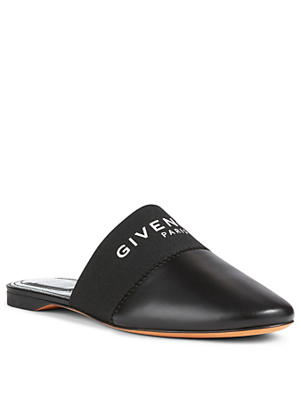 GIVENCHY Bedford Leather Flat Mules Womens Black