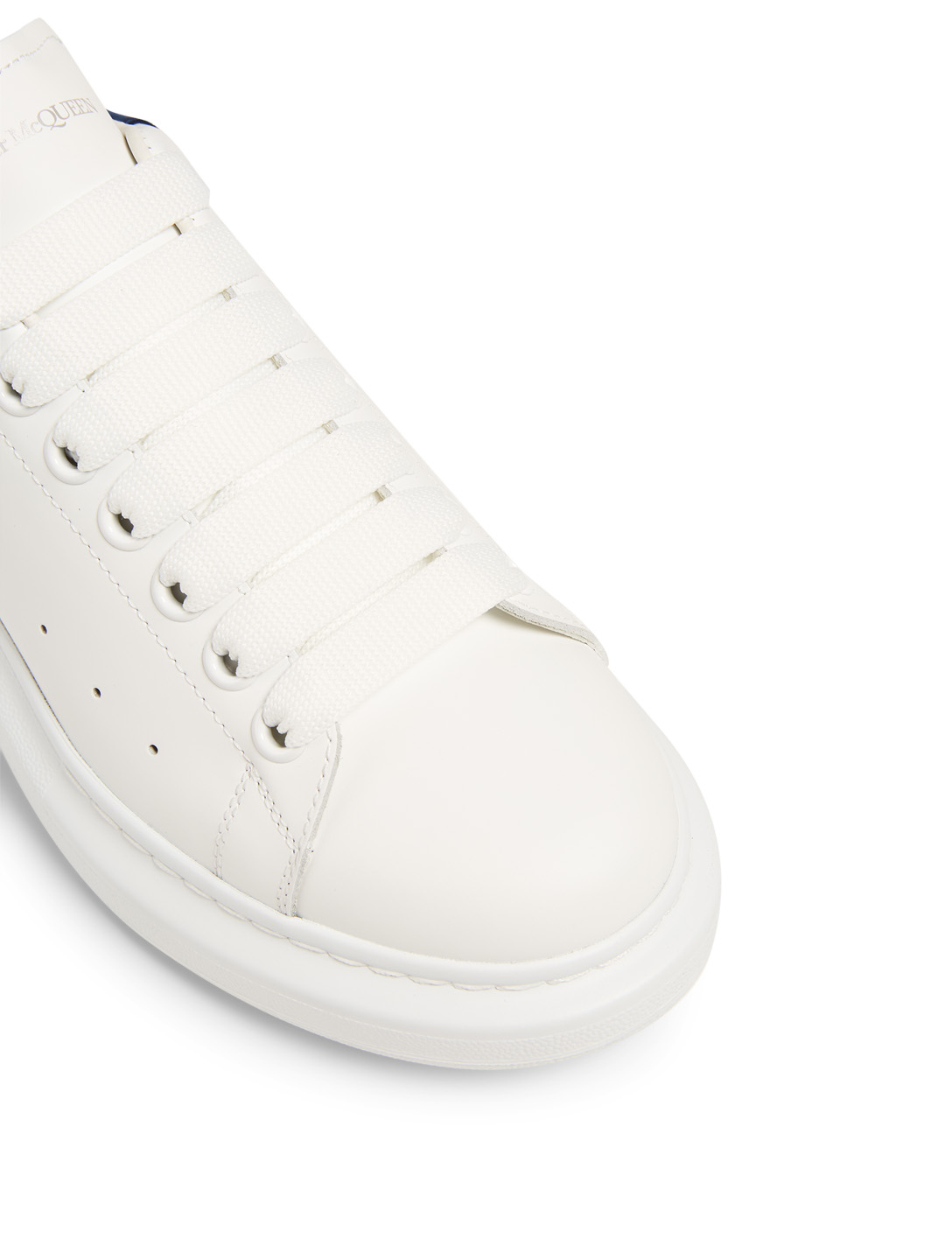 ALEXANDER MCQUEEN Oversized Leather Sneakers Women's White