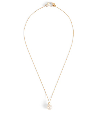 SOPHIE BILLE BRAHE Perle Simple 14K Gold Necklace With Pearl Womens Gold