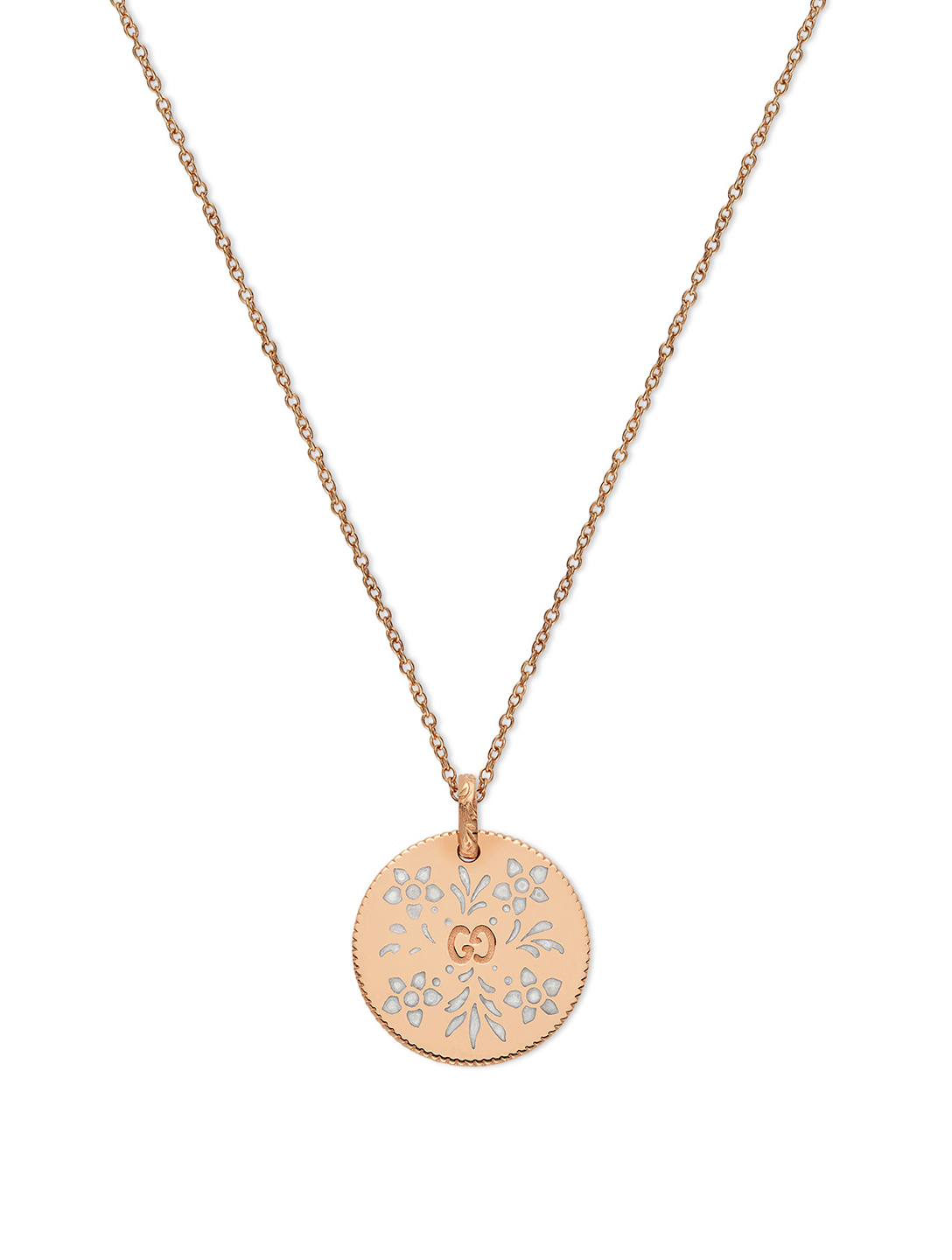 GUCCI Collier Icon en or rose 18 ct Femmes Or