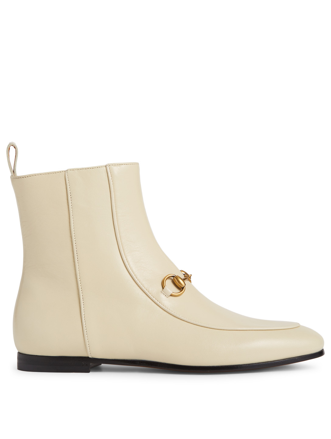 43cc09312a3 GUCCI Jordaan Leather Ankle Boots