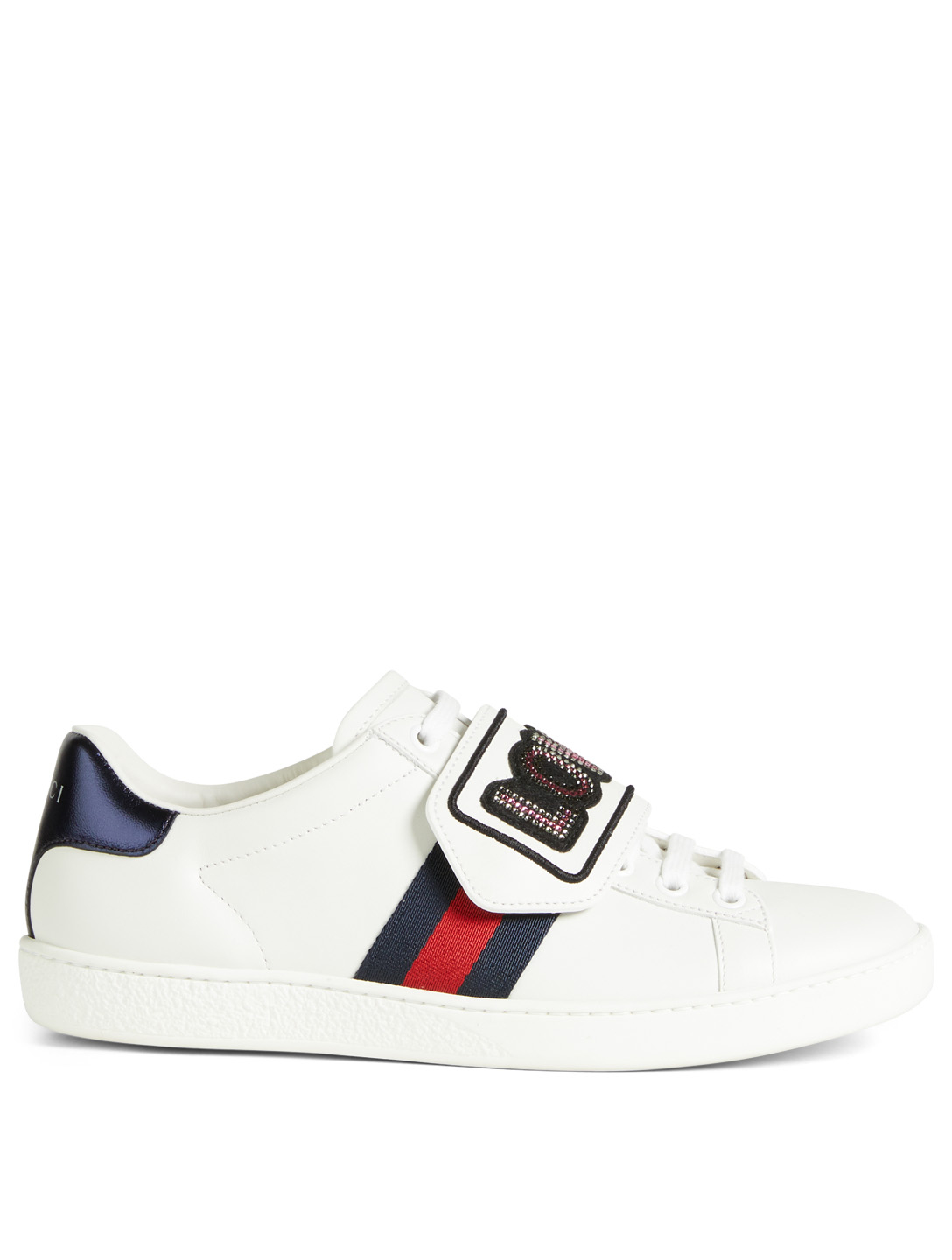 55ad5c7e074 GUCCI Ace Leather Sneakers With Loved Patch