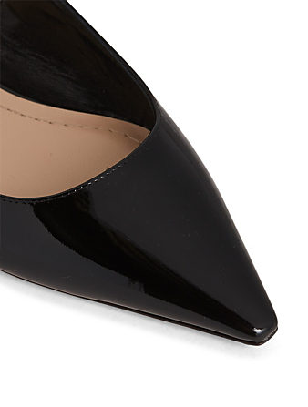 DIOR J'Adior Patent Leather Ballet Flats Women's Black