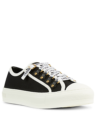 DIOR Walk'n'Dior Leather And Canvas Sneakers Women's Black