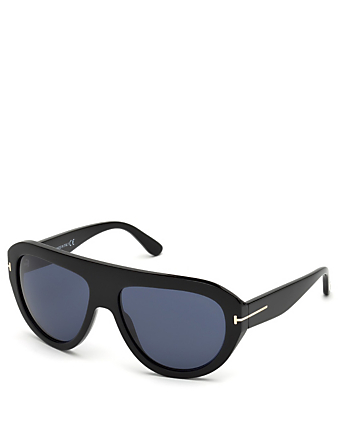 TOM FORD Felix Shield Sunglasses Men's Black