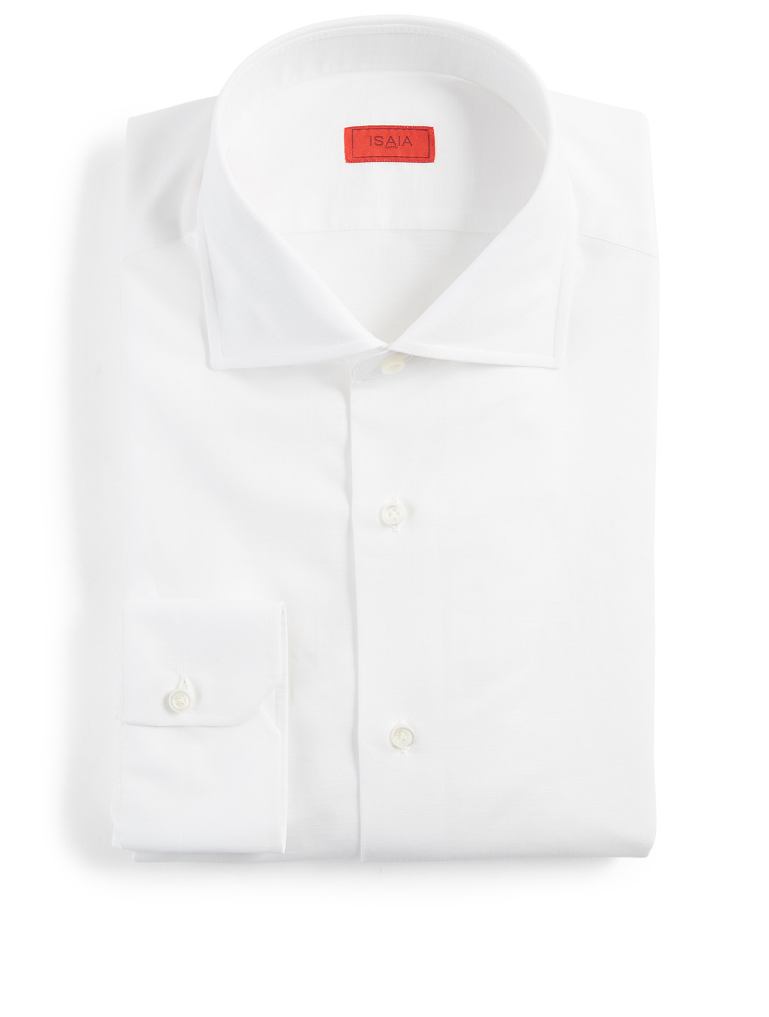 ISAIA Chambray Dress Shirt Men's White