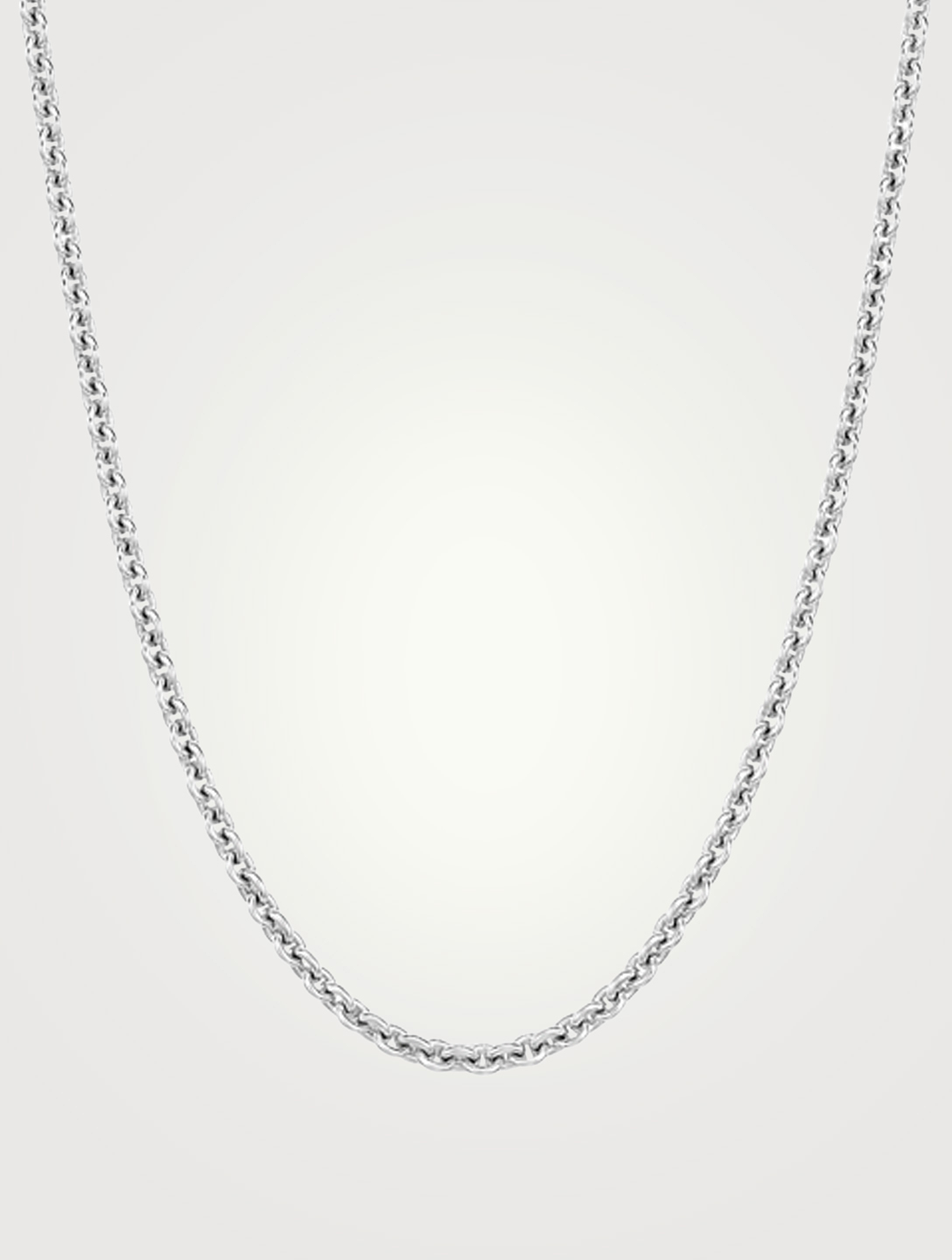 QEELIN 18K White Gold Chain Necklace Women's Silver
