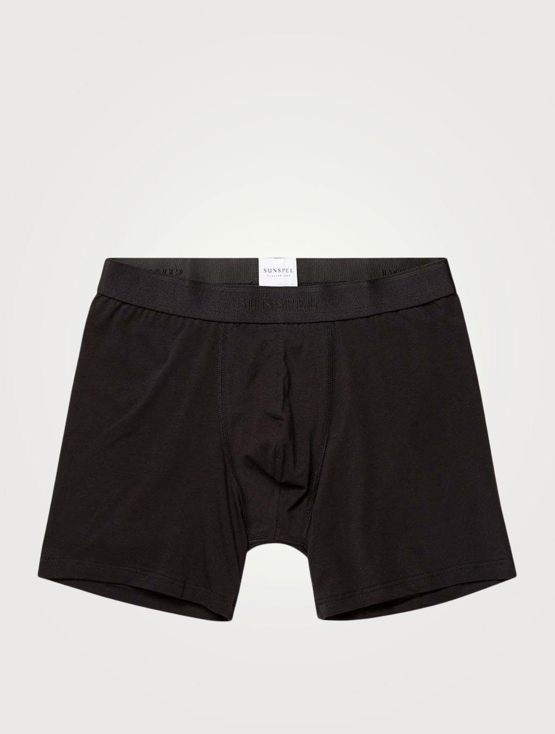 SUNSPEL Stretch Cotton Long Boxer Briefs Men's Black