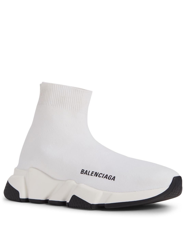 6a5e0abc5e61f ... BALENCIAGA Speed High-Top Sock Sneakers Womens White ...
