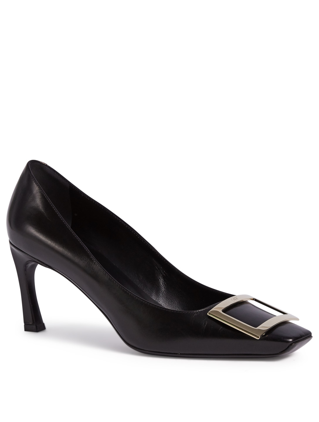 ROGER VIVIER Belle Vivier Trompette Leather Pumps Womens Black