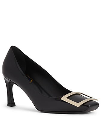 ROGER VIVIER Belle Vivier Trompette Patent Leather Pumps Designers Black