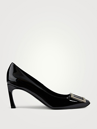 ROGER VIVIER Belle Vivier Trompette Patent Leather Pumps Women's Black