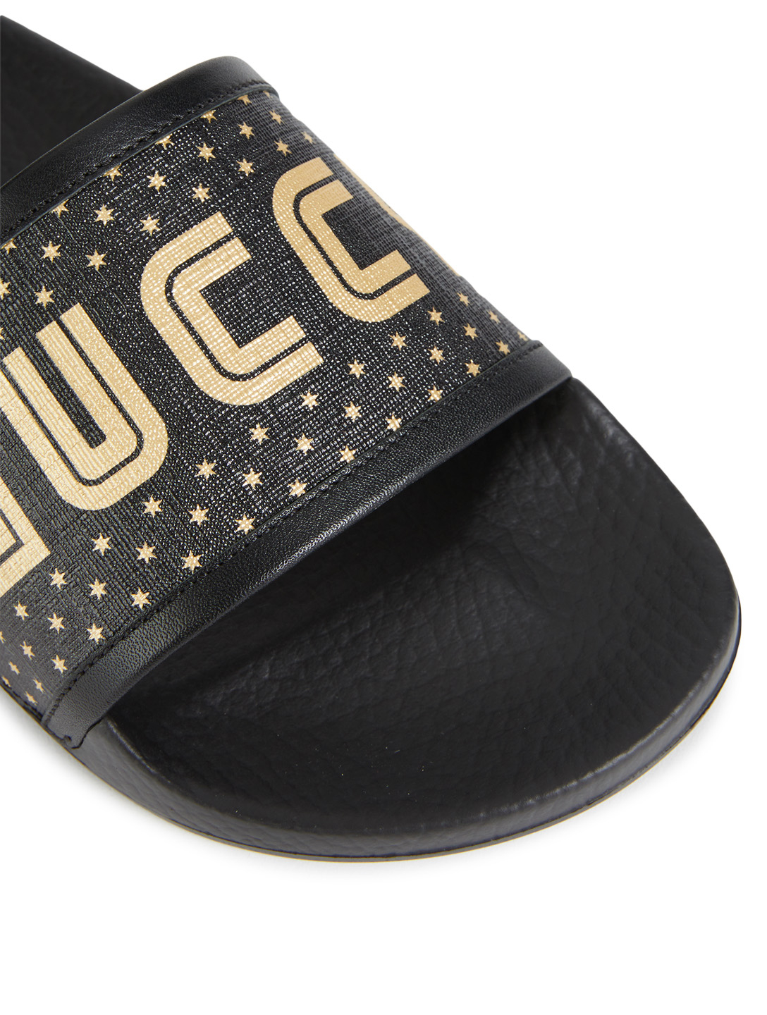GUCCI Pursuit Pool Slides With Guccy Strap Men's Black