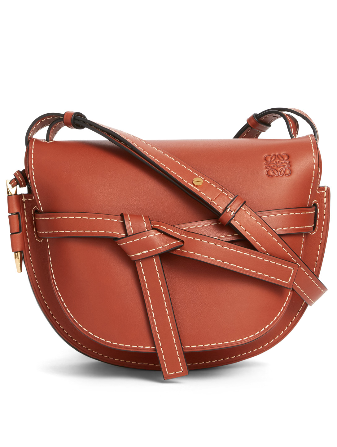 LOEWE Small Gate Leather Crossbody Bag Women's Neutral