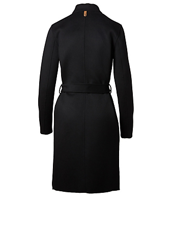 MACKAGE Leora Wool Wrap Coat Womens Black
