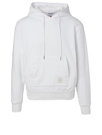 THOM BROWNE Center-Back Stripe Hoodie Men's White